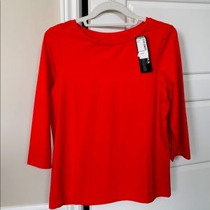 Simons contemporaine red 3-4 sleeve top NWT
